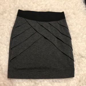 Other - Gray Mini Bodycon Skirt